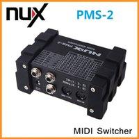 Wholesale Compact Portable NUX PMS MIDI Switcher Remote Control Devices Presets Lock Function Guitar Accessories Via DHL