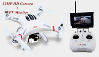 Wholesale 12MP HD Camera CX m GPS FPV Auto Pathfinder RC Quadcopter G Transmitter Camera Drone