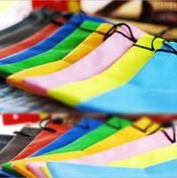 Wholesale waterproof sunglasses pouch soft eyeglasses bag dustproof glasses bag many colors mixed