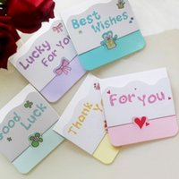 Wholesale 30 sets of Mini Letter Message Card Creative Mini Card with Best Wishes Thank You Gift Cards For Kids