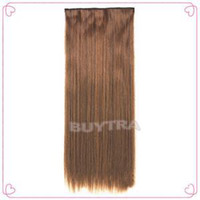 Wholesale 2014 New HE Practical High Quality Full Head Clip In On Extensions Fashion Straight cm Hair Extensions EH