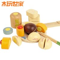 Wholesale Chinese Toy Sales - Montessori wooden toy Play house emulational Chinese Food Set Birthday gift Infants Baby Kids Developmental Toy Fast Shipping Hot sale New
