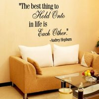 bedroom things - THE BEST THING TO HOLD ONTO AUDREY HEPBURN QUOTE WALL STICKER DECAL BEDROOM HOME