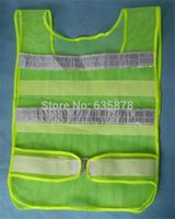Wholesale Visibility Security Safety Mesh Vest Traffic Reflective Stripes Waistcoat Jacket Clothes Black Red Green