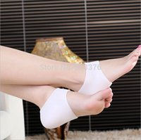 Wholesale DHL Freeshipping New Silicone foot care Moisturizing Gel Heel Socks Cracked Foot Skin Care Protector
