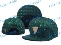 Cheap Green Hater Snapback Hat Leather Intrecciato Brim Gold Logo foamposite metallic, Adjustable W GOLD Logo EMBLEM HAWAII FLOWERS ball caps Hat