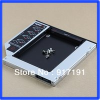 Wholesale PC Universal mm quot SATA nd HDD Hard Driver Caddy For CD DVD Optical Bay order lt no track
