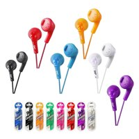 Wholesale Gumy Gummy Earphones HA F160 mm comfortable Earbuds Headset Candy color headset series headphone for iphone S plus samsung HTC