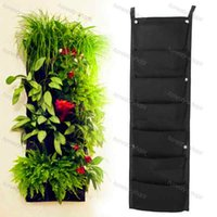 Wholesale Brand New Pocket NEW Felt PC Outdoor Vertical Gardening Flower Pots and Planter Hanging Pots Planter On wall Green Field