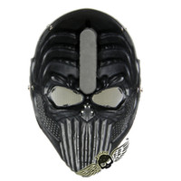 airsoft guns safe - Tactical Spine Tingler Skull Skeleton Army Airsoft Paintball Gun Full Face Game Protect Safe Mask Silver Black