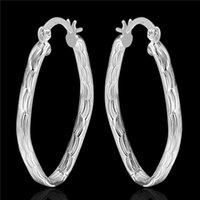Wholesale Brand new sterling silver Alien Fish Pattern Earrings DFMSE343 women s silver Dangle Chandelier earrings pair a dactory direct