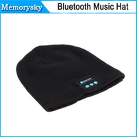 Wholesale Soft Warm Beanie Bluetooth Music Hat Cap with Stereo Headphone Headset Speaker Wireless Mic Hands free for Men Women Gift V887