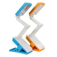 Wholesale 22 LEDs AC110 V Rechargeable Desk Foldable Lamp Clip on Clamp Reading Light Color Optional EGS_398