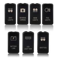 Wholesale 12V Bar Rocker Toggle Switch Blue LED fog Light car ON OFF Locking Switch for TOYOTA Brand New