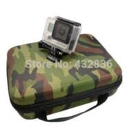Camo Color llevan el bolso de la caja del colletion de la caja del almacenaje PARA los accesorios Gopro Héroe 3 + / 3/2, bolsos de la protección, para la cámara favorable +