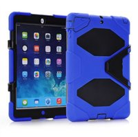 Cheap Top Quality 1:1 Military-Duty Case+ Stand in Package for iPad Air iPad 5  iPad 2 3 4