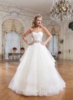 vestido de novia - 2015 New Arrival Justin Alexander Wedding Dresses A Line Sweetheart Beads Crystal Vestido De Novia Long Organza Bridal Gowns