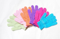 Wholesale 1000pcs Factory price Exfoliating Bath Glove Five fingers Bath Gloves attractive in price and quality