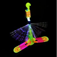 amazing elastic plastic - New products Shining Rocket Flash Copter Arrow Helicopter Neon Led Light Amazing Elastic Powered LED Arrow Helicopter