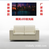 Wholesale Butterfly Fu living room decorative painting frame painting modern American LED factory direct support mixed batch