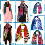 Wholesale 8 Colors Fashion Women s Spain Cape Scarf Cotton Voile Lady Girls Print NO LOGO desigual Brand Scarves Shawl Autumn Winter Wrap Scarf
