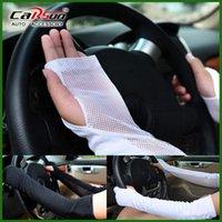 Wholesale Color Black White Summer Sun UV Protection Long Gloves Cotton Mercerized Fabric Anti UV Gloves Drives Golves B89