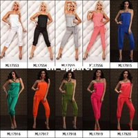 overalls - Cotton Overalls For Women Colors Available Ladies Fashion Strapless Rompers ML17554 Sexy Black Rompers Womens Jumpsuits