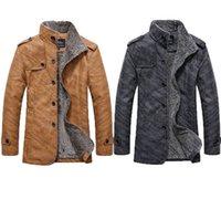 Wholesale Fall new men s leather jacket men leather jackets for men inside microfleece jacket coat