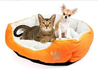 big dog beds - 2016 TOP Pet Dog Nest Puppy Cat dog Soft Bed Fleece Warm House Kennel Plush Mat big warm Teddy plush pet bed dog cat houses