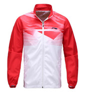 Wholesale New Li Ning badminton Jacket Male sports long sleeve clothes badminton sports jersey tennis uniforms