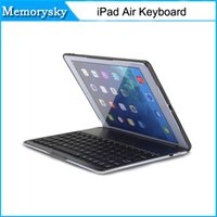 air connect - 2016 new LED Illuminated Aluminium Backlit Wireless Connecting Bluetooth Keyboard Case Cover for Apple iPad Air