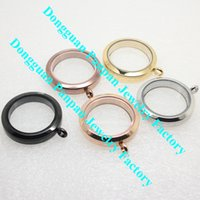 wholesale lockets - Panpan mm twist floating locket pendant L stainless steel glass floating locket charms Factory Price