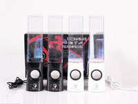 Wholesale Dancing Water Speaker Active Portable Mini USB LED Light Speaker For iphone ipad PC MP3 MP4 PSP DHL free LY