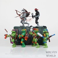 animated ninja turtles - Teenage Mutant Ninja Turtles animated version TMNT87 Years movable nostalgic toy doll PVC set Christmas gifts