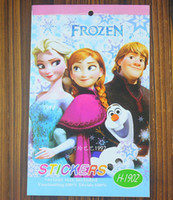 Wholesale Frozen stickers Frozen Cartoon Coloring Book Drawing Book with Stickers Children Gift Edition size cm H0588a