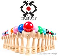 Wholesale 2015 Bestsellers Many Colors cmi cm big Kendama Ball Japanese Traditional Wood Game Toy Education Gifts Activity Gifts toys