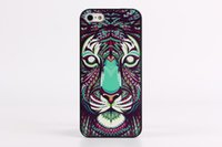 Cheap animal case for iphone 4 4s 5 5s with tiger wolf owl leopard lion head portrait print hard PC back cover case for iphone phone case MOQ 50pc