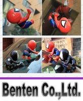 Wholesale Anime spiderman Toy Window Climbing red black Spider Man Doll toys Car Home Interior Decoration With suction cups kids toys LLFA8