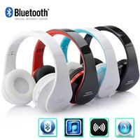 Wholesale NEW Wireless Bluetooth Headphones Earphone Earbuds Stereo Foldable Handsfree Headset with Mic Microphone for iPhone Galaxy HTC