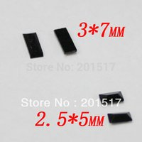 faceted glass stones - 500pcs Black Color Faceted Small Rectangle Shape Crystal Glass Flatback Stones Nail Art Supplies D Nail Art Sticker