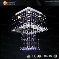 hand blown art glass - Hand blown art glass chandelier lamp crystal drops lamps for home modern OM9170W