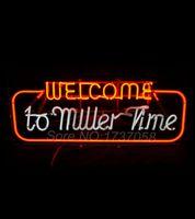 advertising times - 1960s Miller Beer quot Welcome To Miller Time quot Advertising Neon Sign Avize Neon Nikke Air Jorddan Neon Sign