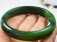 nature green jade bracelet - NATURE Beautiful exquisite GREEN DARK ICE JADE JADEITE BRACELET BANGLE MM