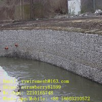 Wholesale Around the River Or Streek Gabion Box Protection mm Opening Galvanized Wire mm Gabion Size m