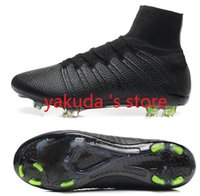 Wholesale Drop Shipping Accepted CR7 FG Soccer Shoe Ronaldo Gold New High Soccer Shoe Football Cleats Soccer Boots Men Size