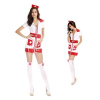 sexy nurse uniform - Classic White Nurse Costumes Women Dresses Sex Set Girl Uniform Temptation Role Play Doctor Cosplay Sexy Costumes New Skinny