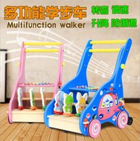 Wholesale Wooden Toy First Step baby walker push along TOY plus animals beautiful beginnings learning walking Multifunction walker Toddle baby toy