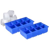 dishwasher - 8 Cavity Jumbo King Silicone Inch Ice Cube Tray Durable Food Grade Silicone Easy to Clean Dishwasher Safe BPA Free SI007