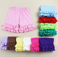 Wholesale 2015 New cotton Baby Girls Ruffled shorts summer Kid shorts girl shorts short pants for baby girls T