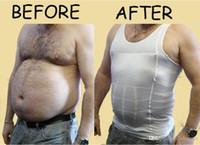 Wholesale Free DHL Men s Slim Minus the Beer Belly Shaping Underwear Abdomen Body Sculpting Vest Shapers Body Sculpting T shirt Body Shaper P